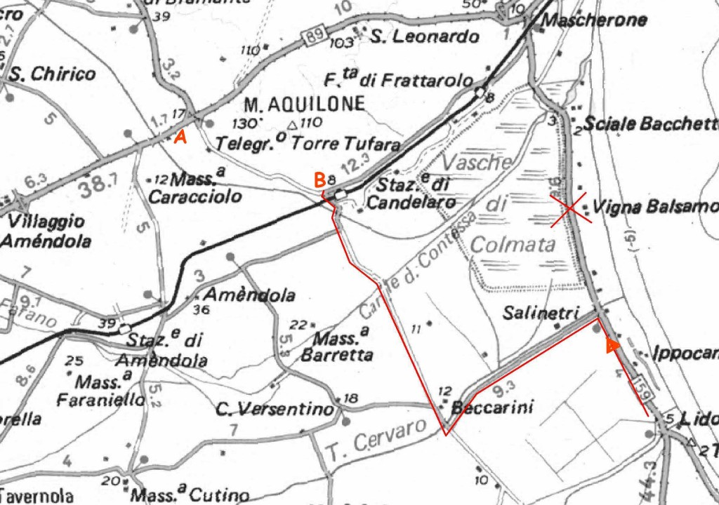 strade x Monte Aquilone